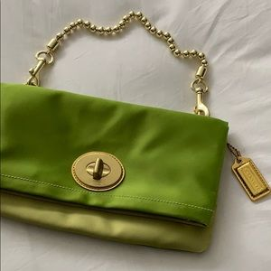 Coach satin bag.  In Excellent condition